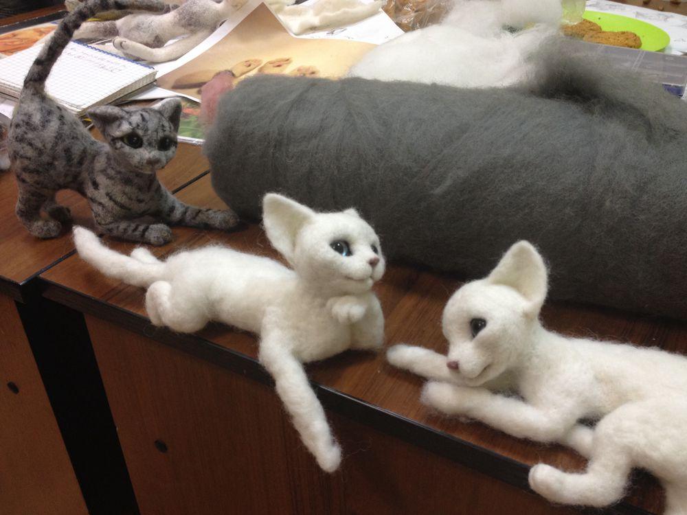 сухое валяние игрушки