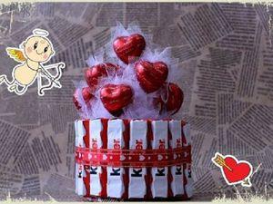 Как красиво оформить сладкий подарок на 14 февраля. Ярмарка Мастеров - ручная работа, handmade.
