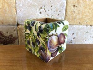 """Подставка для зубочисток """"Италия"""" для Елены. Ярмарка Мастеров - ручная работа, handmade."""