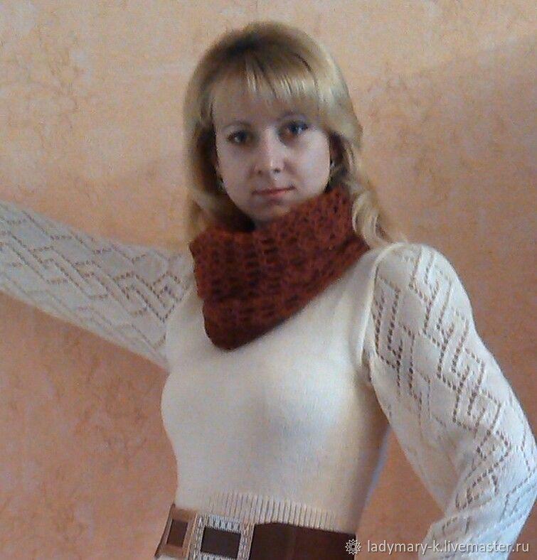 платье с ажурным рукавом