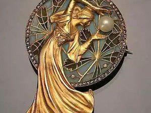 Остановись, мгновенье: 50 изысканных украшений в стиле Art Nouveau   Ярмарка Мастеров - ручная работа, handmade