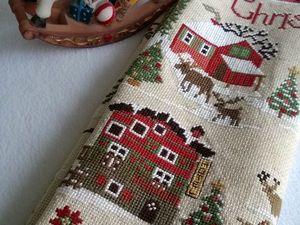 Готов повтор на вышивку  «С Рождеством!». Ярмарка Мастеров - ручная работа, handmade.