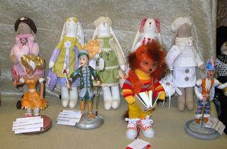 выставка кукол, кружево