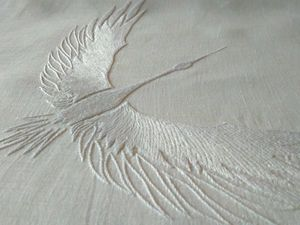 Белый аист летит. Ярмарка Мастеров - ручная работа, handmade.