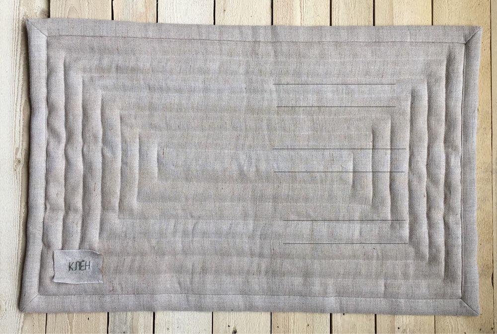 стеганый коврик, льняной коврик