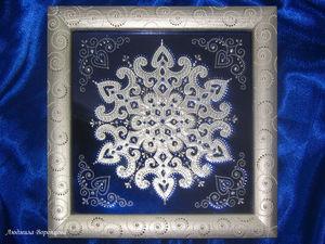 Проще простого: создаем оригинальное панно из бумажной снежинки | Ярмарка Мастеров - ручная работа, handmade