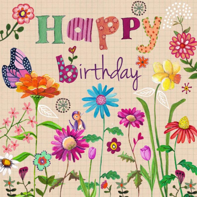 Английские открытки с цветами с днем рождения