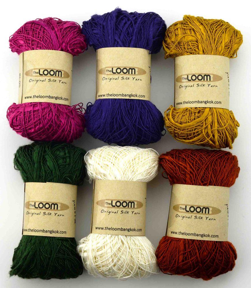 шелковая пряжа, the loom, the loom шелк купить, шелк 100% the loom