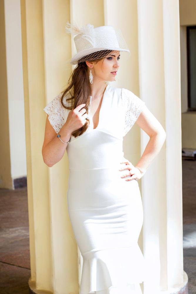 белый цилиндр, свадебная шляпа, скидка