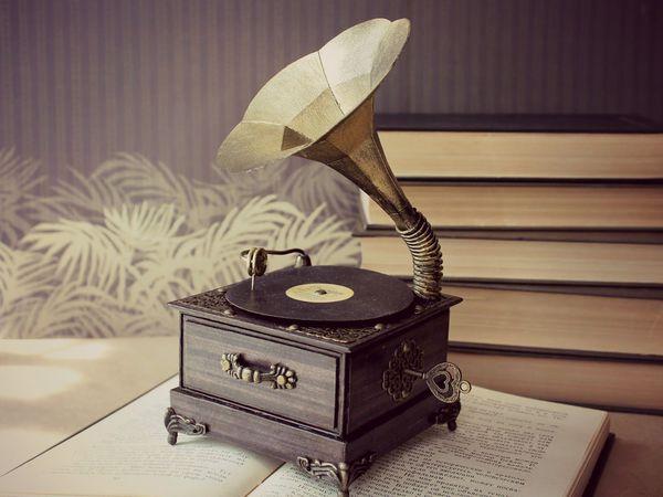 Граммофон и патефон как предмет декора винтажного интерьера | Ярмарка Мастеров - ручная работа, handmade