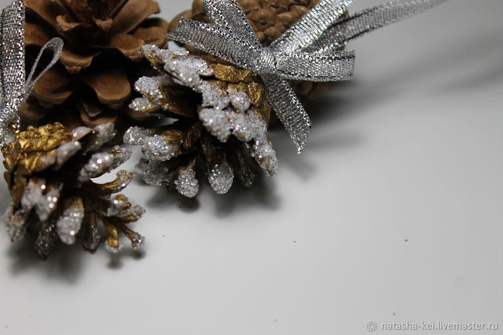 on the tree 2018, decor cones, christmas tree ornament, tutorial