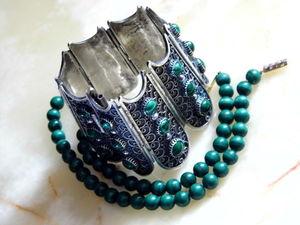 НОВИНКИ: малахитовые бусы и серебряныи браслет с малахитом. Ярмарка Мастеров - ручная работа, handmade.