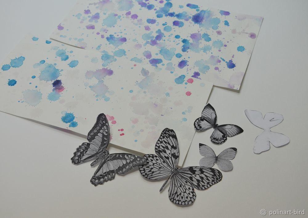 3д открытки с бабочками