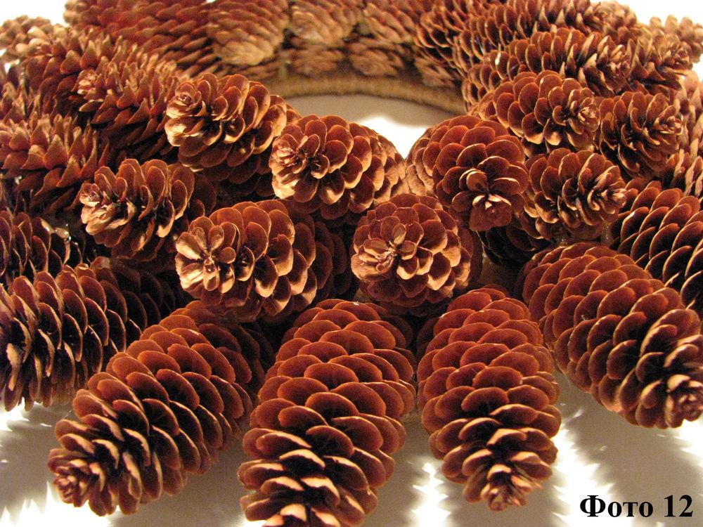 Мастерим Рождественский венок из еловых шишек, фото № 13