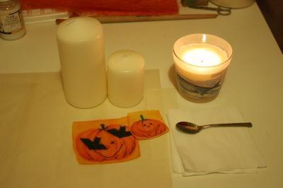 декупаж свечей
