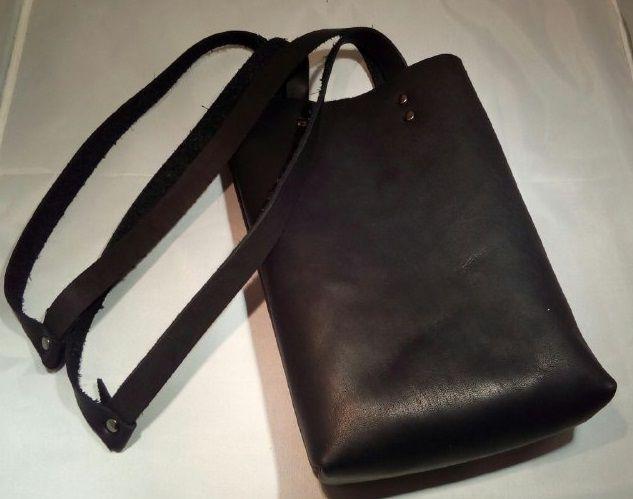 кожаная сумка, натуральная кожа, крафт