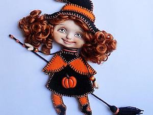 A Witch Called Pumpkin: A DIY on Creating a Doll Brooch | Livemaster - handmade