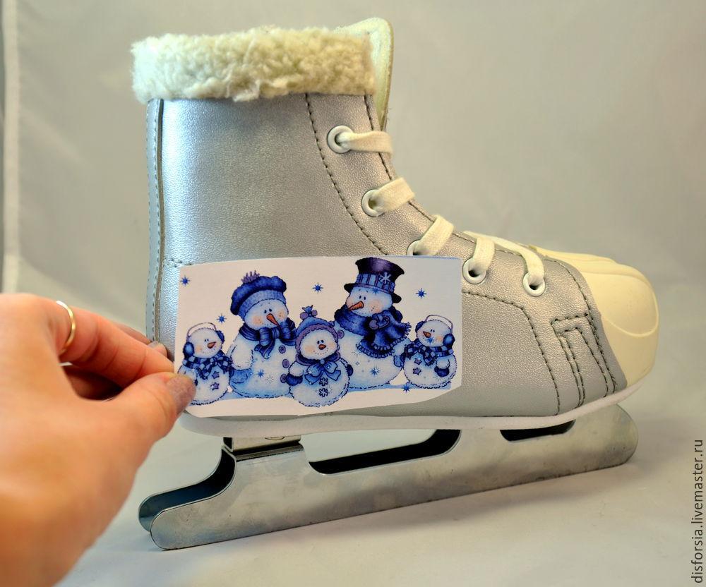декупаж на коньках