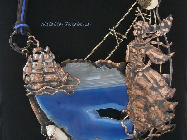 Новое колье Бегущая по волнам | Ярмарка Мастеров - ручная работа, handmade