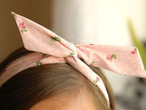 Шьем нежную тканевую повязку на голову. Ярмарка Мастеров - ручная работа, handmade.