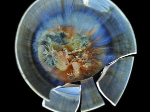 Фарфоровые тарелки с кристаллической глазурью .. Ярмарка Мастеров - ручная работа, handmade.