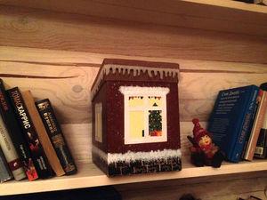 Домик для хранения мелочей «Рождественский». Ярмарка Мастеров - ручная работа, handmade.