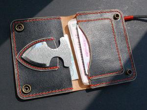 Доработка кошельков под маленьккий запасной нож. Ярмарка Мастеров - ручная работа, handmade.