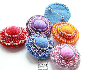 A New Idea How to Use Felt for Brooch Making. Livemaster - handmade