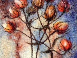 Н. Новгород. МК по мокрому валянию сумки с акварельным рисунком | Ярмарка Мастеров - ручная работа, handmade