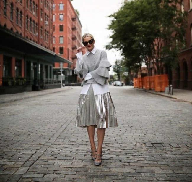 стиль, платье вязаное