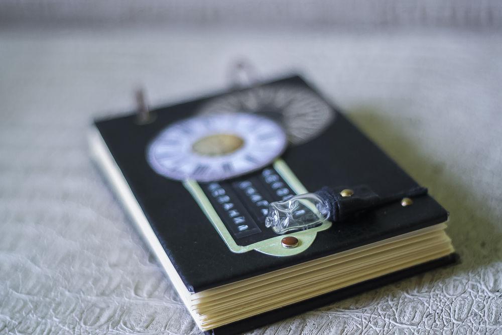 Чековая книжка желаний в чёрной кожаной обложке, фото № 5