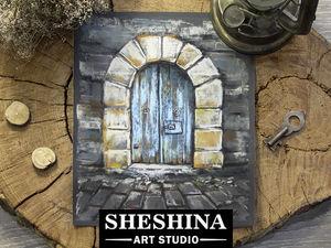 Рисуем сухой пастелью старую таинственную дверь с каменной кладкой: видеоурок. Ярмарка Мастеров - ручная работа, handmade.