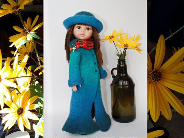 Делаем пальто для куклы в технике «вязаный войлок»   Ярмарка Мастеров - ручная работа, handmade