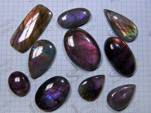 Кабошоны из спектролита - фиолетовые и  разноцветные. Ярмарка Мастеров - ручная работа, handmade.