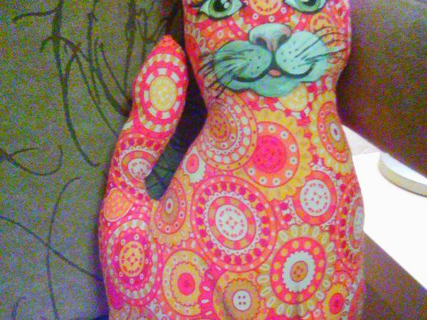 Аукцион Игрушка Интерьерная Кошка,,рыжуля,, | Ярмарка Мастеров - ручная работа, handmade