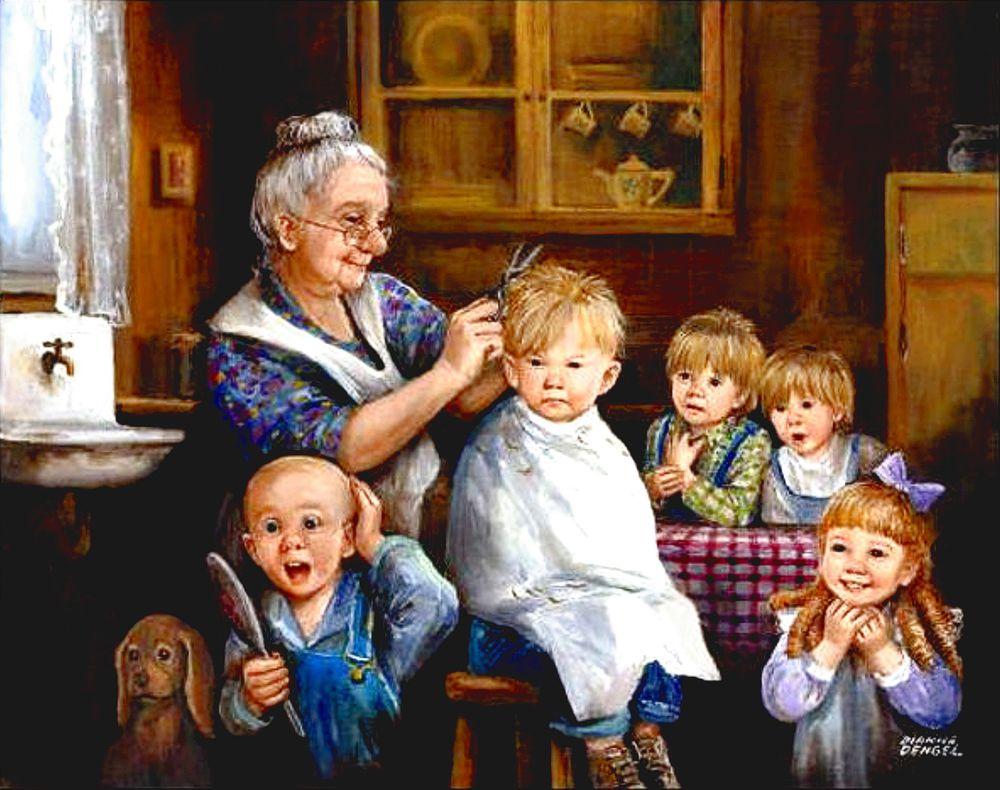 дедушки на картинах