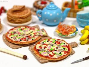«Готовим» миниатюрную пиццу из полимерной глины для кукольного домика: видео мастер-класс. Ярмарка Мастеров - ручная работа, handmade.