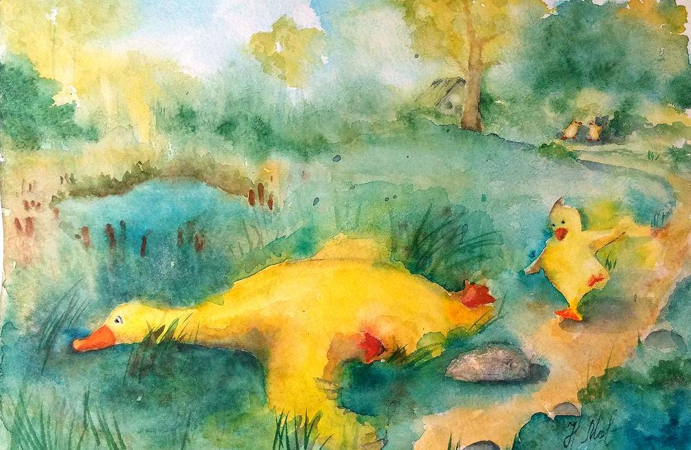 интуитивная живопись, сказки в открытках