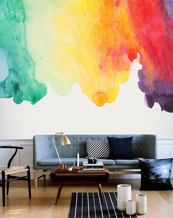The Tenderest Interior: Abstract Watercolours on Modern Wallpapers, фото № 18