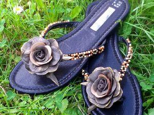 Декорируем пляжную обувь своими руками | Ярмарка Мастеров - ручная работа, handmade