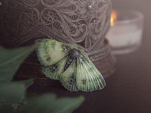 Светло-зелёные мотыльки. Ярмарка Мастеров - ручная работа, handmade.