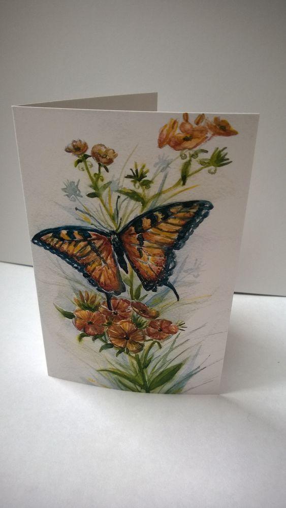 открытки, флоксы, лето, акварель, открытки в подарок