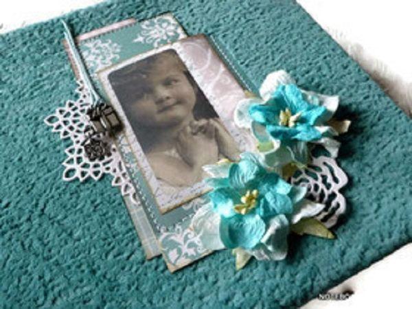 Шебби-бирюза в альбоме для малышки | Ярмарка Мастеров - ручная работа, handmade