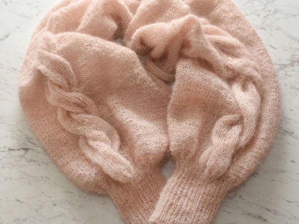 Knitting A Sleeve Shawl — Unusual and Adorable Winter Accessory | Livemaster - handmade