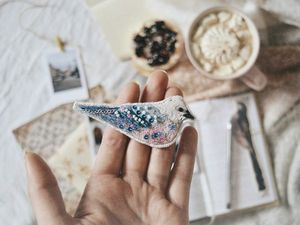 Согретая утром зимняя птица. Ярмарка Мастеров - ручная работа, handmade.