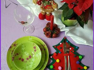 Создаем новогоднюю салфетку под столовые приборы. Ярмарка Мастеров - ручная работа, handmade.