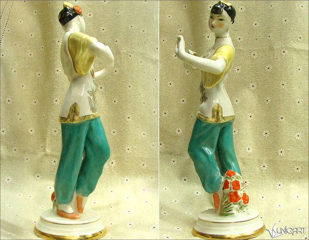 фарфоровая статуэтка, антиквариат, винтажный фарфор, винтажный стиль, танец, китайский стиль, скульптура, ретро, старые вещи, коллекционирование