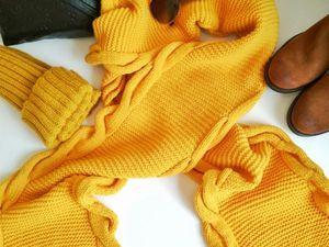 Быстрый аукцион на стильный желтый шарф!. Ярмарка Мастеров - ручная работа, handmade.