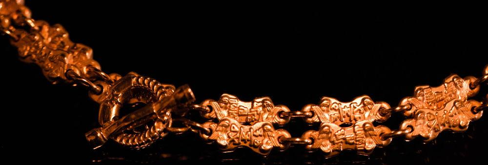золотые кольца, золотая цепь
