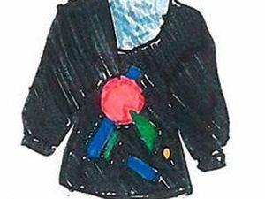 Роспись плаща в трафаретной технике | Ярмарка Мастеров - ручная работа, handmade